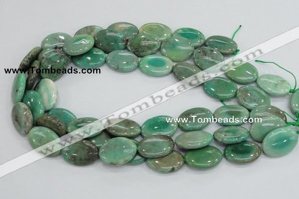 CAB31 15.5 inches 18*25mm oval green grass agate gemstone beads