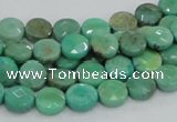 CAB32 15.5 inches 8mm faceted coin green grass agate gemstone beads