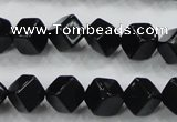 CAB332 15.5 inches 8*8mm cube black agate gemstone beads wholesale