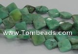 CAB35 15.5 inches 8*8mm faceted diamond green grass agate beads