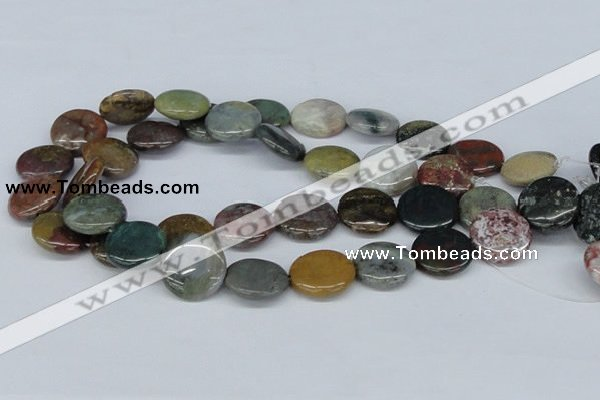 CAB367 15.5 inches 20mm flat round ocean agate gemstone beads