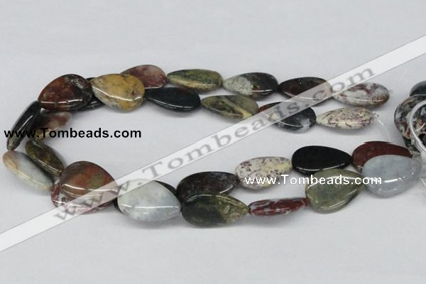 CAB368 15.5 inches 20*30mm flat teardrop ocean agate gemstone beads
