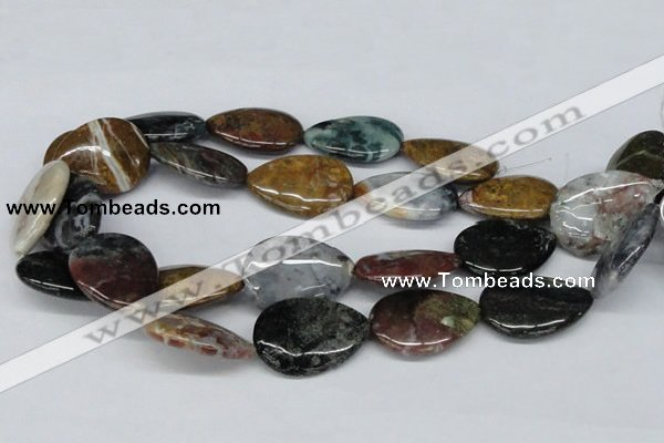 CAB369 15.5 inches 25*35mm flat teardrop ocean agate gemstone beads