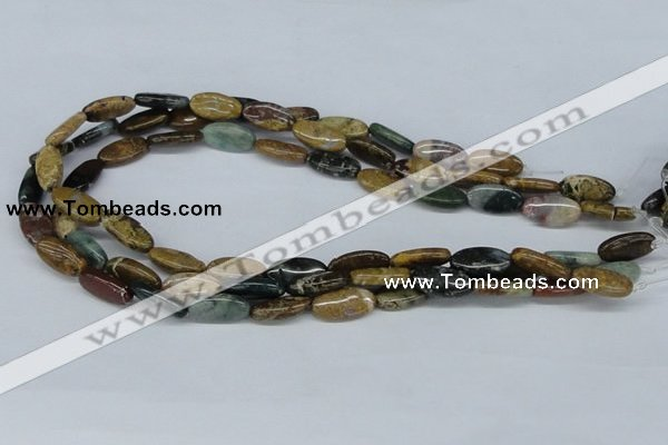 CAB370 15.5 inches 9*18mm oval ocean agate gemstone beads wholesale