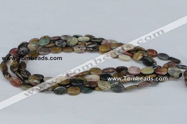 CAB371 15.5 inches 10*14mm oval ocean agate gemstone beads wholesale