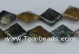 CAB378 15.5 inches 12*12mm diamond ocean agate gemstone beads