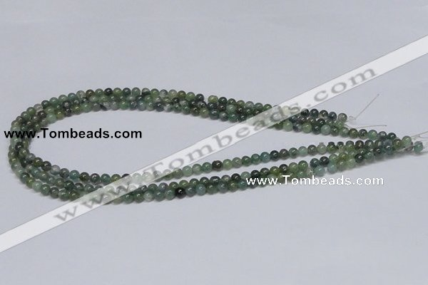 CAB382 15.5 inches 4mm round moss agate gemstone beads wholesale