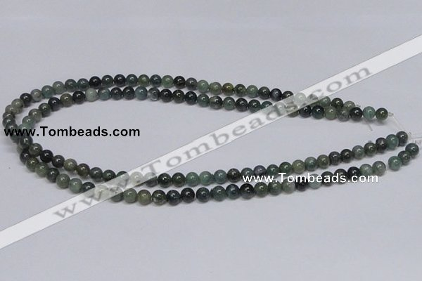 CAB383 15.5 inches 6mm round moss agate gemstone beads wholesale
