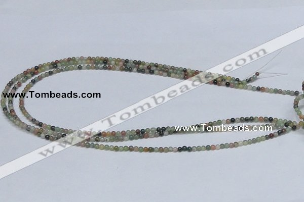 CAB429 15.5 inches 3mm round indian agate gemstone beads wholesale
