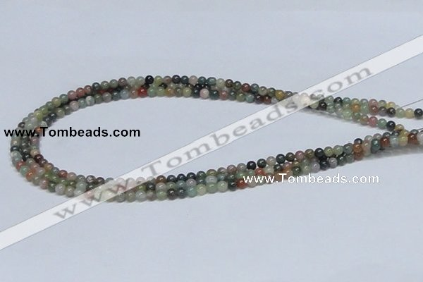 CAB430 15.5 inches 4mm round indian agate gemstone beads wholesale