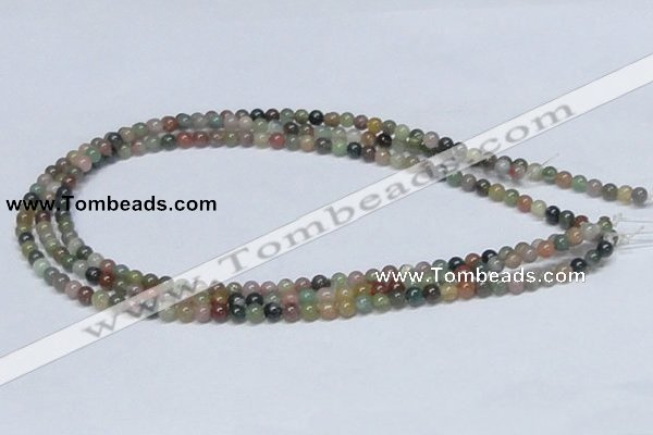 CAB431 15.5 inches 5mm round indian agate gemstone beads wholesale