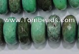 CAB46 15.5 inches 11*20mm faceted rondelle green grass agate beads