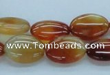 CAB495 15.5 inches 13*18mm oval red agate gemstone beads wholesale