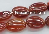 CAB496 15.5 inches 15*20mm oval red agate gemstone beads wholesale