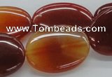 CAB497 15.5 inches 22*30mm oval red agate gemstone beads wholesale