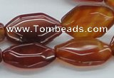 CAB501 15.5 inches 19*25mm octagonal red agate beads wholesale