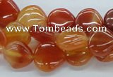 CAB503 15.5 inches 13*13mm heart red agate gemstone beads wholesale