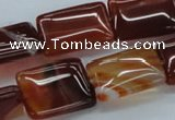 CAB507 15.5 inches 15*20mm rectangle red agate beads wholesale