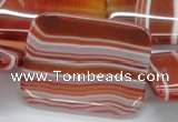 CAB508 15.5 inches 30*40mm rectangle red agate beads wholesale