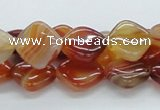 CAB509 15.5 inches 12*12mm diamond red agate beads wholesale