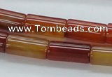 CAB512 15.5 inches 10*20mm column red agate beads wholesale