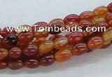 CAB518 15.5 inches 5*17mm rice red agate gemstone beads wholesale