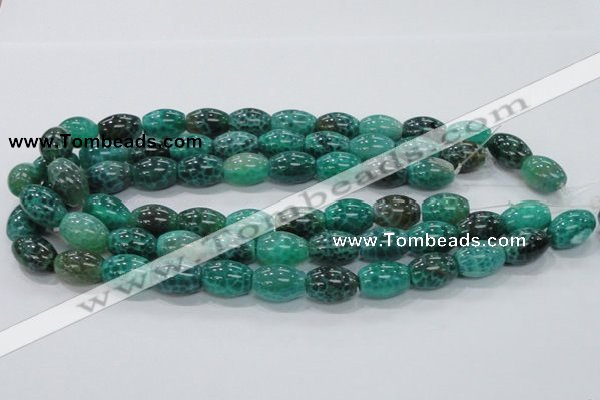 CAB52 15.5 inches 13*18mm egg-shaped peafowl agate gemstone beads