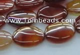 CAB528 15.5 inches 15*20mm oval AB-color red agate beads wholesale