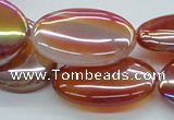 CAB529 15.5 inches 22*30mm oval AB-color red agate beads wholesale
