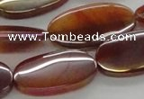CAB530 15.5 inches 16*30mm oval AB-color red agate beads wholesale