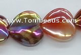 CAB534 15.5 inches 20*20mm heart AB-color red agate beads wholesale