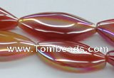 CAB536 15.5 inches 16*35mm marquise AB-color red agate beads