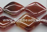 CAB538 15.5 inches 25*25mm diamond AB-color red agate beads