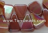 CAB540 14*20mm top-drilled trapezoid AB-color red agate beads