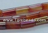 CAB549 15.5 inches 8*16mm cylinder AB-color red agate beads