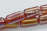 CAB550 15.5 inches 10*20mm cylinder AB-color red agate beads