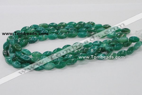CAB57 15.5 inches 8*16mm twisted peafowl agate gemstone beads