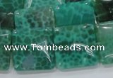 CAB59 15.5 inches 20*20mm square peafowl agate gemstone beads