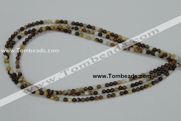 CAB590 15.5 inches 4mm round mexican agate gemstone beads wholesale