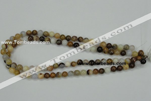 CAB591 15.5 inches 8mm round mexican agate gemstone beads wholesale