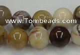 CAB592 15.5 inches 14mm round mexican agate gemstone beads wholesale