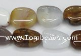 CAB604 15.5 inches 15*20mm freeform mexican agate gemstone beads wholesale