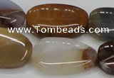 CAB605 15.5 inches 20*30mm freeform mexican agate gemstone beads wholesale