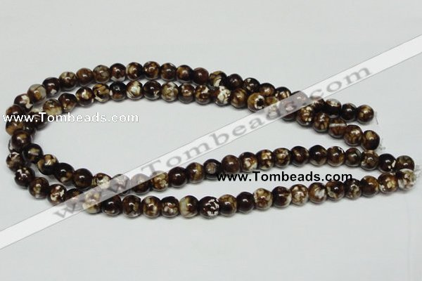 CAB610 15.5 inches 10mm round leopard skin agate beads wholesale