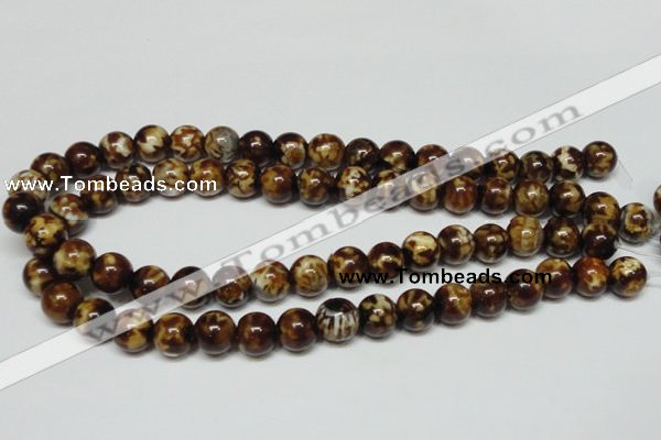CAB611 15.5 inches 12mm round leopard skin agate beads wholesale
