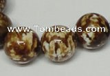 CAB613 15.5 inches 16mm round leopard skin agate beads wholesale