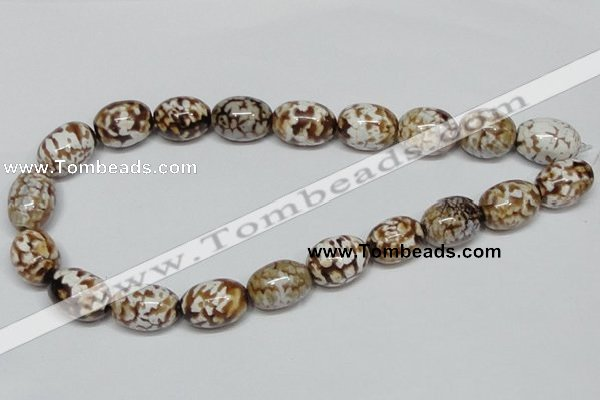 CAB621 15.5 inches 15*20mm egg-shaped leopard skin agate beads wholesale