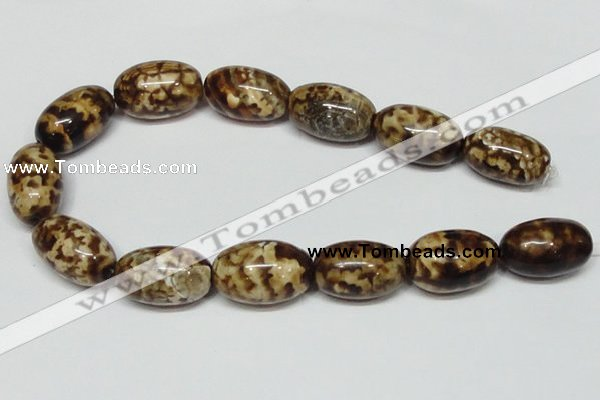 CAB623 15.5 inches 20*30mm egg-shaped leopard skin agate beads wholesale