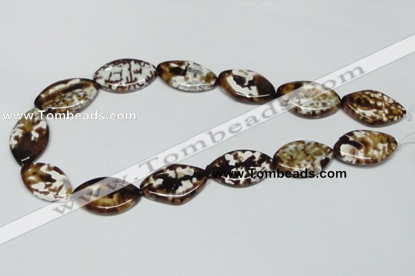 CAB636 15.5 inches 20*30mm marquise leopard skin agate beads
