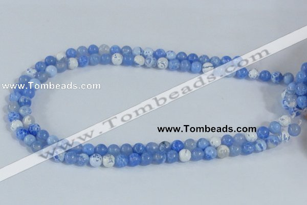 CAB645 15.5 inches 8mm round fire crackle agate beads wholesale